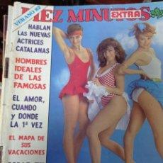 Coleccionismo de Revista Diez Minutos: REVISTA DÍEZ MINUTOS AÑO 1982 EL SUMARIO FOTOGRAFIADO. Lote 218735160