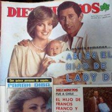 Coleccionismo de Revista Diez Minutos: REVISTA DÍEZ MINUTOS AÑO 1982 EL SUMARIO FOTOGRAFIADO. Lote 218735203