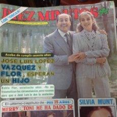Coleccionismo de Revista Diez Minutos: REVISTA DÍEZ MINUTOS AÑO 1982 EL SUMARIO FOTOGRAFIADO. Lote 218735857