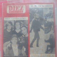 Coleccionismo de Revista Diez Minutos: BRIGITTE BARDOT EN LA NIEVE REVISTA DIEZ MINUTOS MARZO 1963.... Lote 218960681
