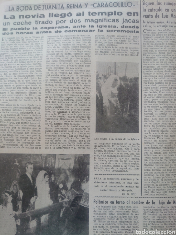 Coleccionismo de Revista Diez Minutos: La boda de Juanita Reina y Caracolillo revista Diez minutos Junio 1964... - Foto 2 - 218960878