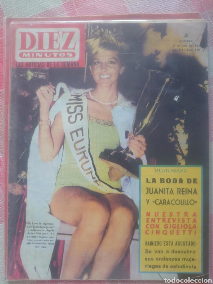 LA BODA DE JUANITA REINA Y CARACOLILLO REVISTA DIEZ MINUTOS JUNIO 1964... (Coleccionismo - Revistas y Periódicos Modernos (a partir de 1.940) - Revista Diez Minutos)