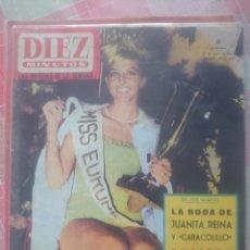 Coleccionismo de Revista Diez Minutos: LA BODA DE JUANITA REINA Y CARACOLILLO REVISTA DIEZ MINUTOS JUNIO 1964.... Lote 218960878