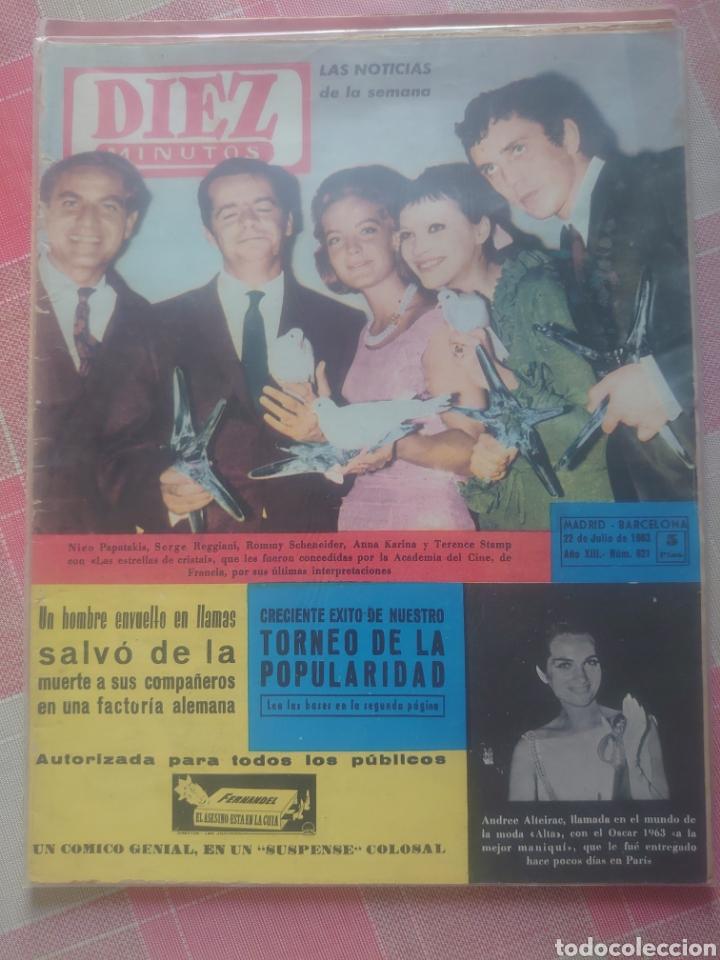 ROMY SCHNEIDER REVISTA DIEZ MINUTOS JULIO 1963... (Coleccionismo - Revistas y Periódicos Modernos (a partir de 1.940) - Revista Diez Minutos)