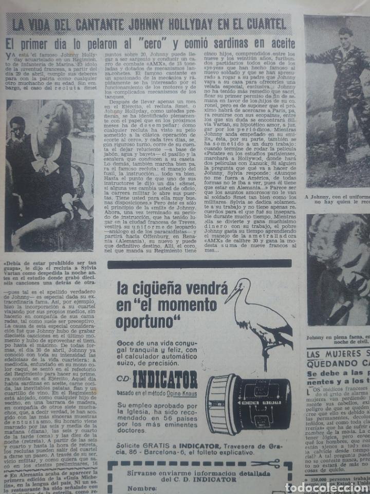 Coleccionismo de Revista Diez Minutos: Johnny Hallyday revista Diez minutos Mayo 1964... - Foto 2 - 218961737