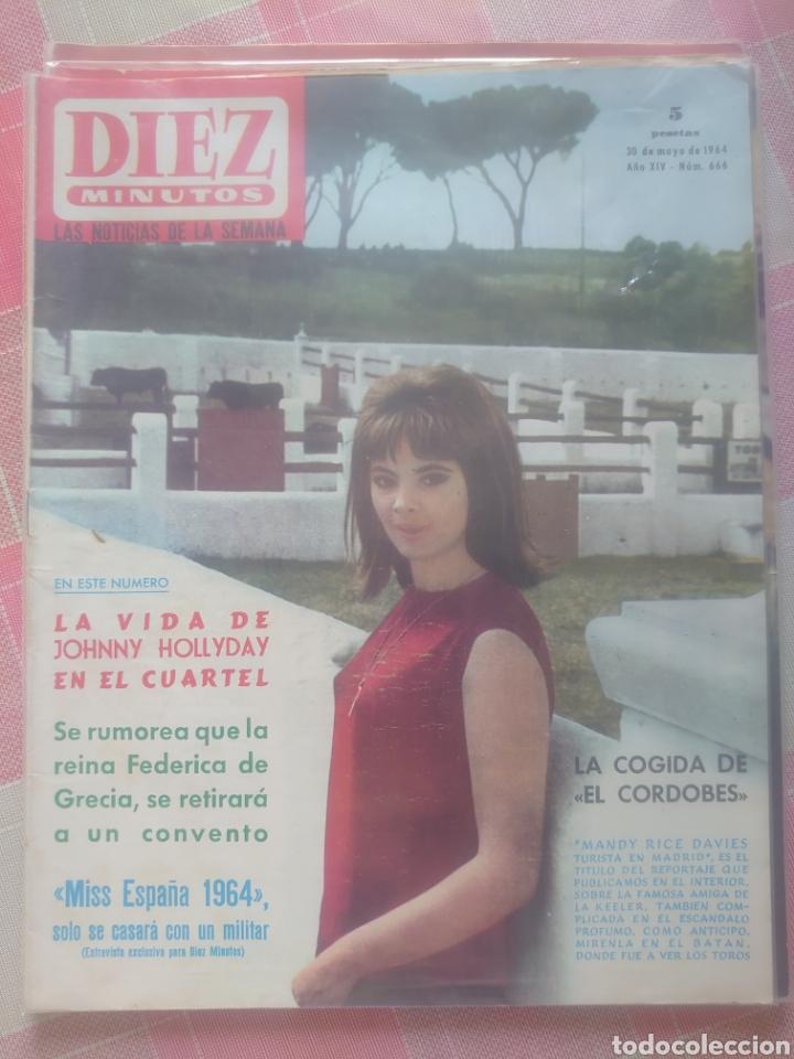 JOHNNY HALLYDAY REVISTA DIEZ MINUTOS MAYO 1964... (Coleccionismo - Revistas y Periódicos Modernos (a partir de 1.940) - Revista Diez Minutos)