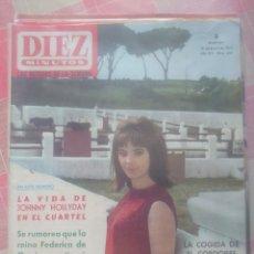 Coleccionismo de Revista Diez Minutos: JOHNNY HALLYDAY REVISTA DIEZ MINUTOS MAYO 1964.... Lote 218961737