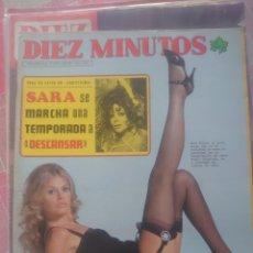 Coleccionismo de Revista Diez Minutos: SARA MONTIEL REVISTA DIEZ MINUTOS ENERO 1975.... Lote 218962641