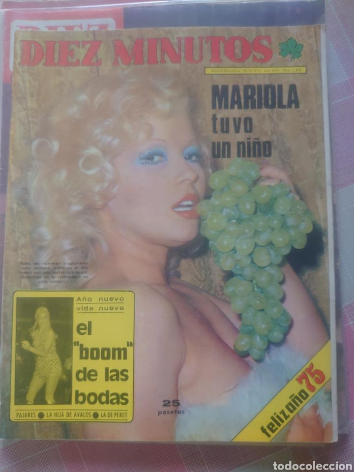 ROSA MORENA REVISTA DIEZ MINUTOS DICIEMBRE 1974... (Coleccionismo - Revistas y Periódicos Modernos (a partir de 1.940) - Revista Diez Minutos)