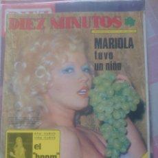 Coleccionismo de Revista Diez Minutos: ROSA MORENA REVISTA DIEZ MINUTOS DICIEMBRE 1974.... Lote 218962853
