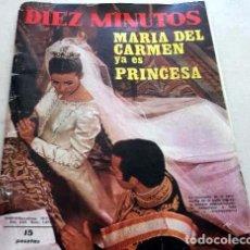 Coleccionismo de Revista Diez Minutos: DIEZ MINUTOS / DUQUES DE CADIZ, ALFONSO DE BORBON, MANOLO ESCOBAR, CHRIS MITCHUM, ROSALIA. Lote 218990165