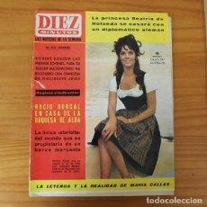 Coleccionismo de Revista Diez Minutos: DIEZ MINUTOS 723, JULIO 1965. PRINCESA BEATRIZ DE HOLANDA, ROCIO DURCAL, CATHERINE ALLEGRET.... Lote 219037612