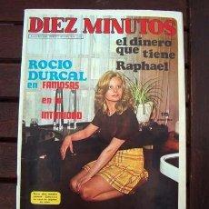 Coleccionismo de Revista Diez Minutos: DIEZ MINUTOS / ROCIO DURCAL, SYLVIE VARTAN, MIREILLE MATHIEU, JOHNNY HALLYDAY, CARMEN SEVILLA. Lote 219685046