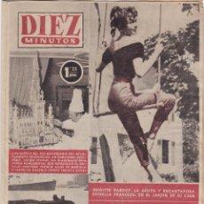 Collectionnisme de Magazine Diez Minutos: REVISTA DIEZ MINUTOS Nº - 217 --- 23 - DE OCTUBRE 1955. Lote 221899577