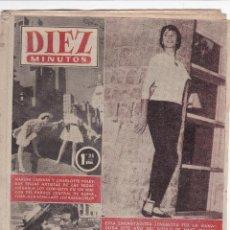 Coleccionismo de Revista Diez Minutos: REVISTA DIEZ MINUTOS Nº - 219 --- 6 - DE NOVIEMBRE 1955. Lote 221903223