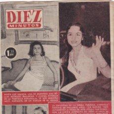 Coleccionismo de Revista Diez Minutos: REVISTA DIEZ MINUTOS Nº - 222 --- 27 - DE - NOVIEMBRE 1955. Lote 221903830