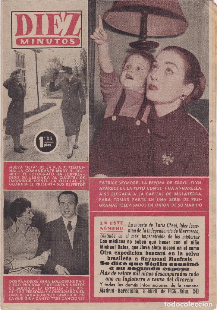 REVISTA DIEZ MINUTOS Nº - 241 --- 8 -- ABRIL 1956 (Coleccionismo - Revistas y Periódicos Modernos (a partir de 1.940) - Revista Diez Minutos)