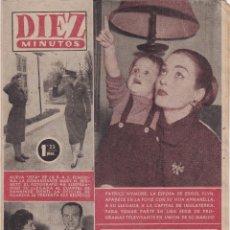 Coleccionismo de Revista Diez Minutos: REVISTA DIEZ MINUTOS Nº - 241 --- 8 -- ABRIL 1956. Lote 221906075