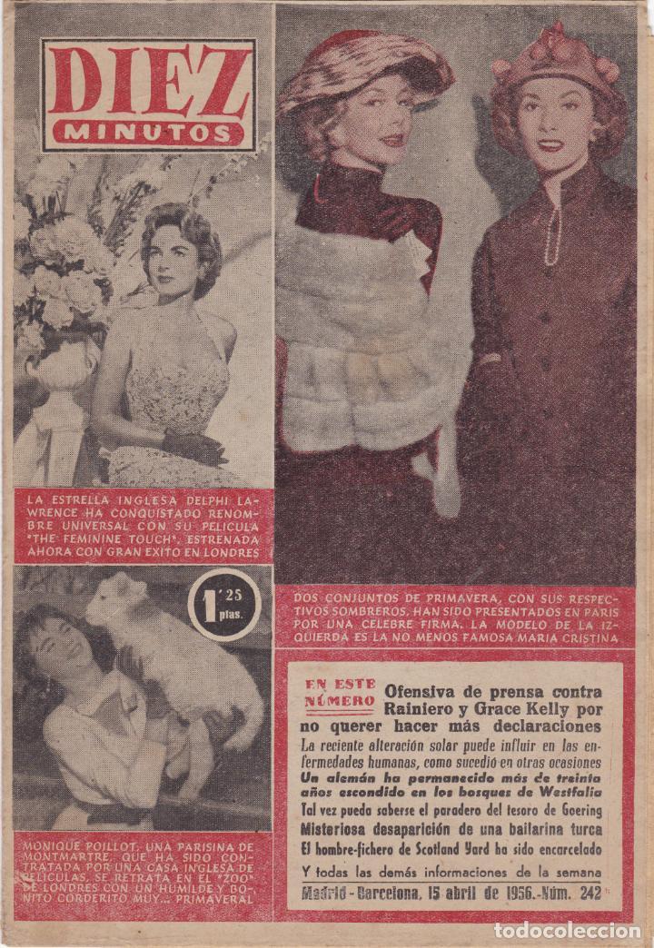 REVISTA DIEZ MINUTOS Nº - 242 --- 15 -- ABRIL 1956 (Coleccionismo - Revistas y Periódicos Modernos (a partir de 1.940) - Revista Diez Minutos)