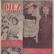 Coleccionismo de Revista Diez Minutos: REVISTA DIEZ MINUTOS Nº - 242 --- 15 -- ABRIL 1956. Lote 221906166