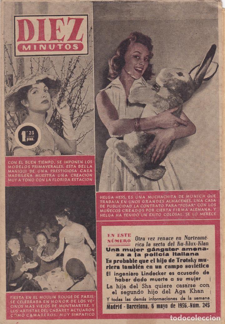 REVISTA DIEZ MINUTOS Nº - 245 --- 6 -- MAYO 1956 (Coleccionismo - Revistas y Periódicos Modernos (a partir de 1.940) - Revista Diez Minutos)