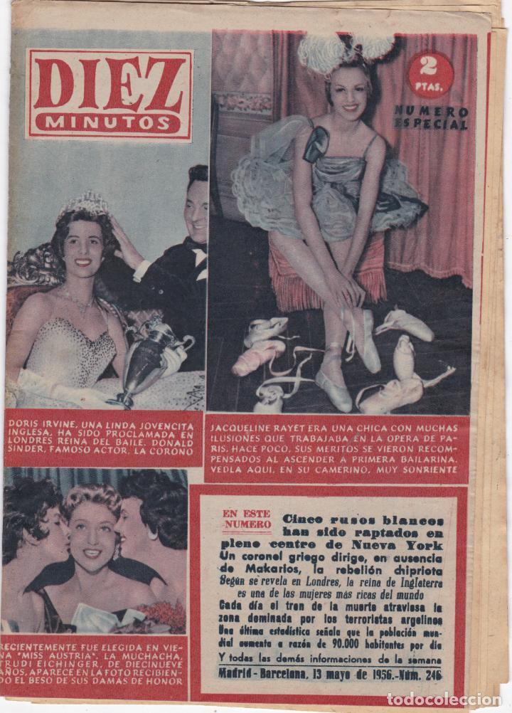 REVISTA DIEZ MINUTOS Nº - 246 ---13 -- MAYO 1956 (Coleccionismo - Revistas y Periódicos Modernos (a partir de 1.940) - Revista Diez Minutos)