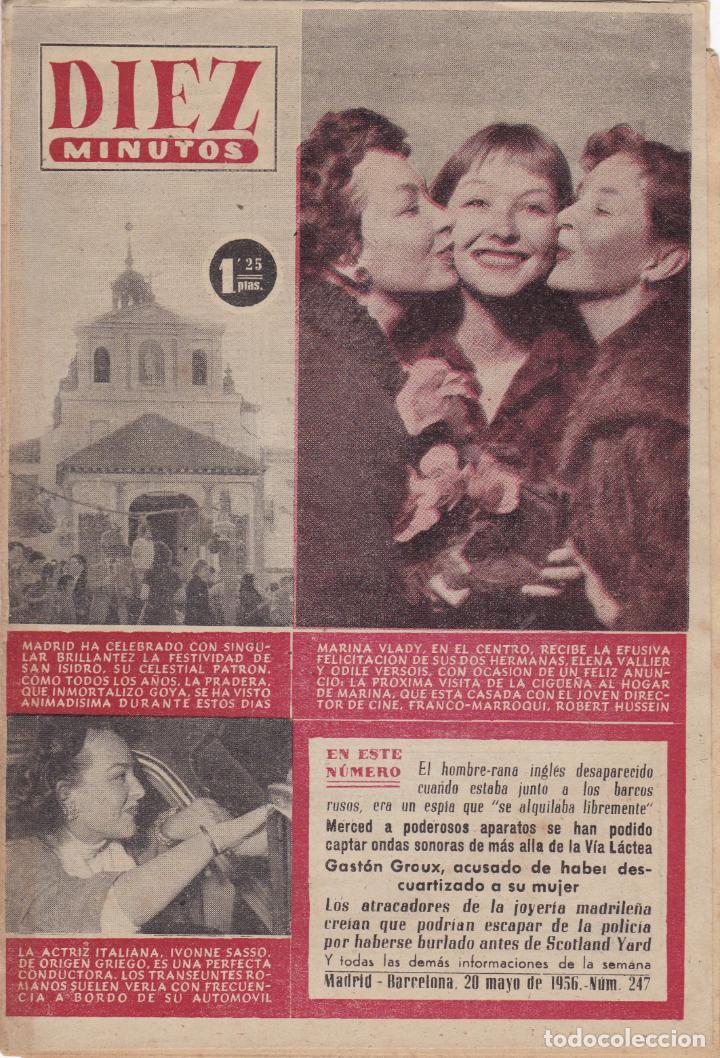REVISTA DIEZ MINUTOS Nº - 247 --- 20 -- MAYO 1956 (Coleccionismo - Revistas y Periódicos Modernos (a partir de 1.940) - Revista Diez Minutos)