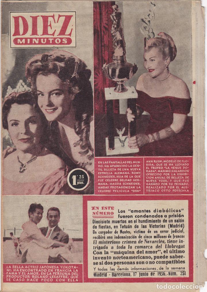REVISTA DIEZ MINUTOS Nº - 251 --- 17 -- JUNIO 1956 (Coleccionismo - Revistas y Periódicos Modernos (a partir de 1.940) - Revista Diez Minutos)