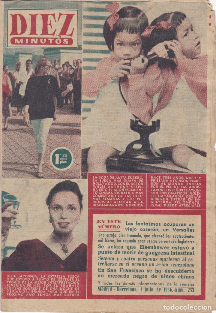 REVISTA DIEZ MINUTOS Nº - 253 --- 1 -- JULIO 1956 (Coleccionismo - Revistas y Periódicos Modernos (a partir de 1.940) - Revista Diez Minutos)