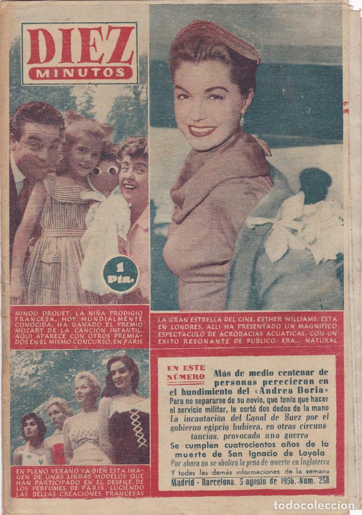 REVISTA DIEZ MINUTOS Nº - 258 -- 5 -- AGOSTO 1956 (Coleccionismo - Revistas y Periódicos Modernos (a partir de 1.940) - Revista Diez Minutos)