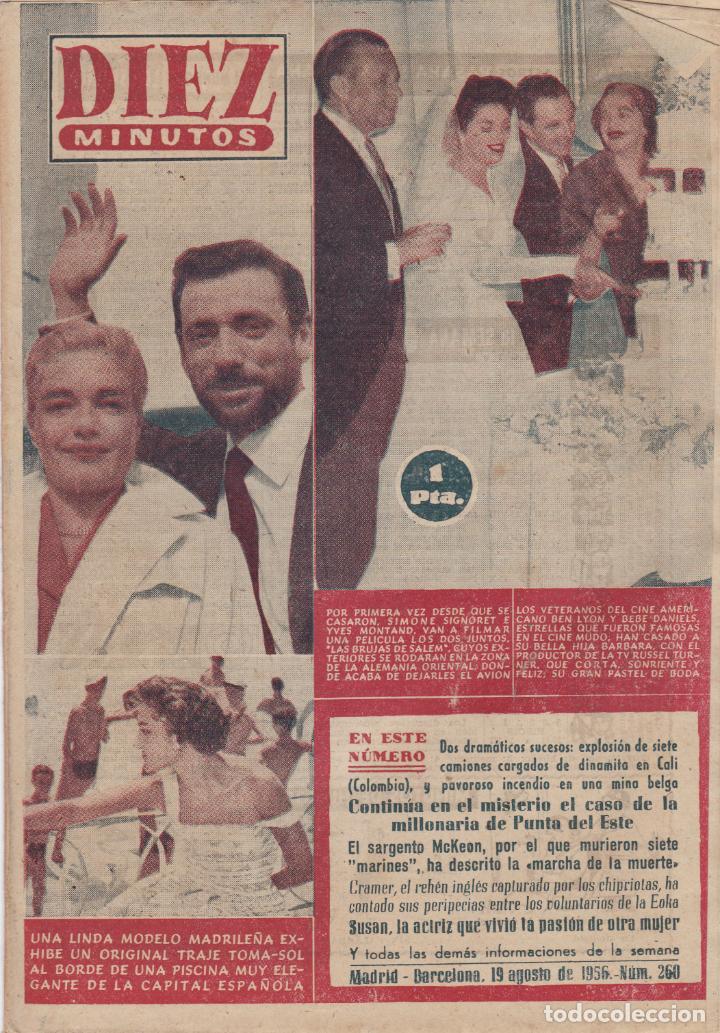 REVISTA DIEZ MINUTOS Nº - 260 -- 19 -- AGOSTO 1956 (Coleccionismo - Revistas y Periódicos Modernos (a partir de 1.940) - Revista Diez Minutos)
