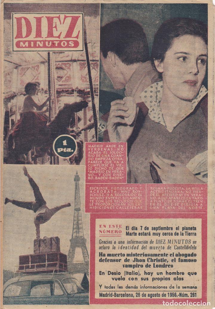REVISTA DIEZ MINUTOS Nº - 261 -- 26-- AGOSTO 1956 (Coleccionismo - Revistas y Periódicos Modernos (a partir de 1.940) - Revista Diez Minutos)