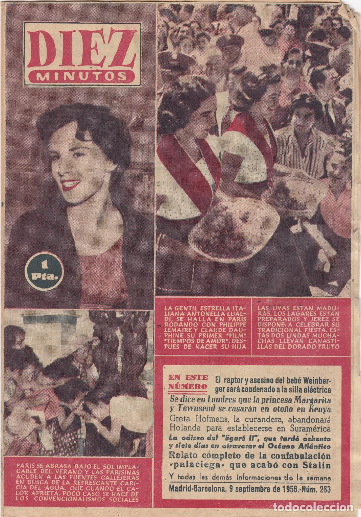 REVISTA DIEZ MINUTOS Nº - 263 -- 9 - SEPTIEMBRE 1956 (Coleccionismo - Revistas y Periódicos Modernos (a partir de 1.940) - Revista Diez Minutos)