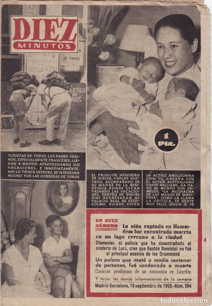 REVISTA DIEZ MINUTOS Nº - 264 -- 16 - SEPTIEMBRE 1956 (Coleccionismo - Revistas y Periódicos Modernos (a partir de 1.940) - Revista Diez Minutos)