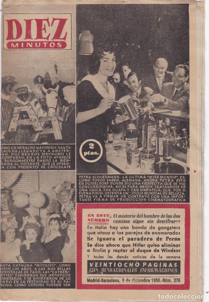 REVISTA DIEZ MINUTOS Nº - 276 -- 9 -- DICIEMBRE 1956 (Coleccionismo - Revistas y Periódicos Modernos (a partir de 1.940) - Revista Diez Minutos)