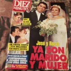 Coleccionismo de Revista Diez Minutos: DIEZ MINUTOS NUM. 2271. JOSÉ Y ROCÍO JURADO YA SON MARIDO Y MUJER.. Lote 222060236
