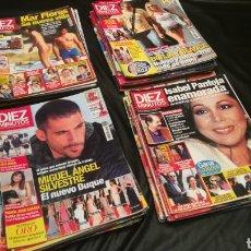 Coleccionismo de Revista Diez Minutos: LOTE DE 40 REVISTAS , DIEZ MINUTOS ( 33 ) PRONTO ( 5 ) ¡QUÉ ME DICES! ( 2 ). Lote 222394176