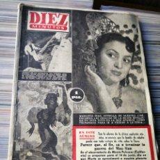 Coleccionismo de Revista Diez Minutos: REVISTA DÍEZ MINUTOS- MARUJITA DÍAZ EN PORTADA+LA BOMBA DE COBALTO. N°138. 1954. Lote 222651237