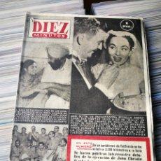 Coleccionismo de Revista Diez Minutos: REVISTA DÍEZ MINUTOS- ANN BLYTH EN PORTADA, N°100. 1953. Lote 222651767