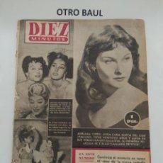 Coleccionismo de Revista Diez Minutos: REVISTA DIEZ MINUTOS, NUMERO 129, 14 DE FEBRERO DE 1954, LEER DESCRIPCION. Lote 223310333