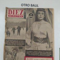 Coleccionismo de Revista Diez Minutos: REVISTA DIEZ MINUTOS, NUMERO 130, 21 DE FEBRERO DE 1954, LEER DESCRIPCION. Lote 223310421