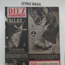 Coleccionismo de Revista Diez Minutos: REVISTA DIEZ MINUTOS, NUMERO 133, 14 DE ENERO DE 1954, LEER DESCRIPCION. Lote 223310566