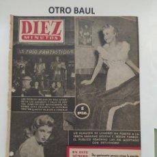 Coleccionismo de Revista Diez Minutos: REVISTA DIEZ MINUTOS, NUMERO 135, 28 DE MARZO DE 1954, LEER DESCRIPCION. Lote 223310775