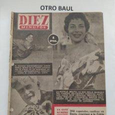 Coleccionismo de Revista Diez Minutos: REVISTA DIEZ MINUTOS, NUMERO 136, 4 DE ABRIL DE 1954, LEER DESCRIPCION. Lote 223310865