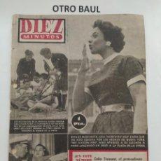 Coleccionismo de Revista Diez Minutos: REVISTA DIEZ MINUTOS, NUMERO 157, 29 DE AGOSTO DE 1954, LEER DESCRIPCION. Lote 223311186