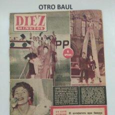 Coleccionismo de Revista Diez Minutos: REVISTA DIEZ MINUTOS, NUMERO 169, 21 DE NOVIEMBRE DE 1954, LEER DESCRIPCION. Lote 223311382