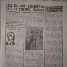 Coleccionismo de Revista Diez Minutos: DALI LA PINTURA NUCLEAR DALI DEMANDADO 1954. Lote 223957525