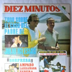 Coleccionismo de Revista Diez Minutos: REVISTA DIEZ MINUTOS Nº 1586 ENERO 1982 TODO SOBRE EL CASO DEL PADRE DE JULIO IGLESIAS. Lote 225257830