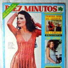 Coleccionismo de Revista Diez Minutos: REVISTA DIEZ MINUTOS Nº 1338 ABRIL 1977 LA CANTUDO, CARI LAPIQUE EMBARAZADA. Lote 225273851