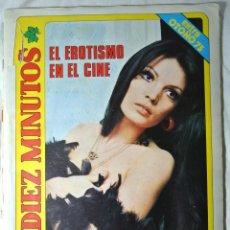 Coleccionismo de Revista Diez Minutos: REVISTA DIEZ MINUTOS EXTRA OTOÑO 1975 EL EROTISMO EN EL CINE , MARIA JOSE CANTUDO. Lote 225275165